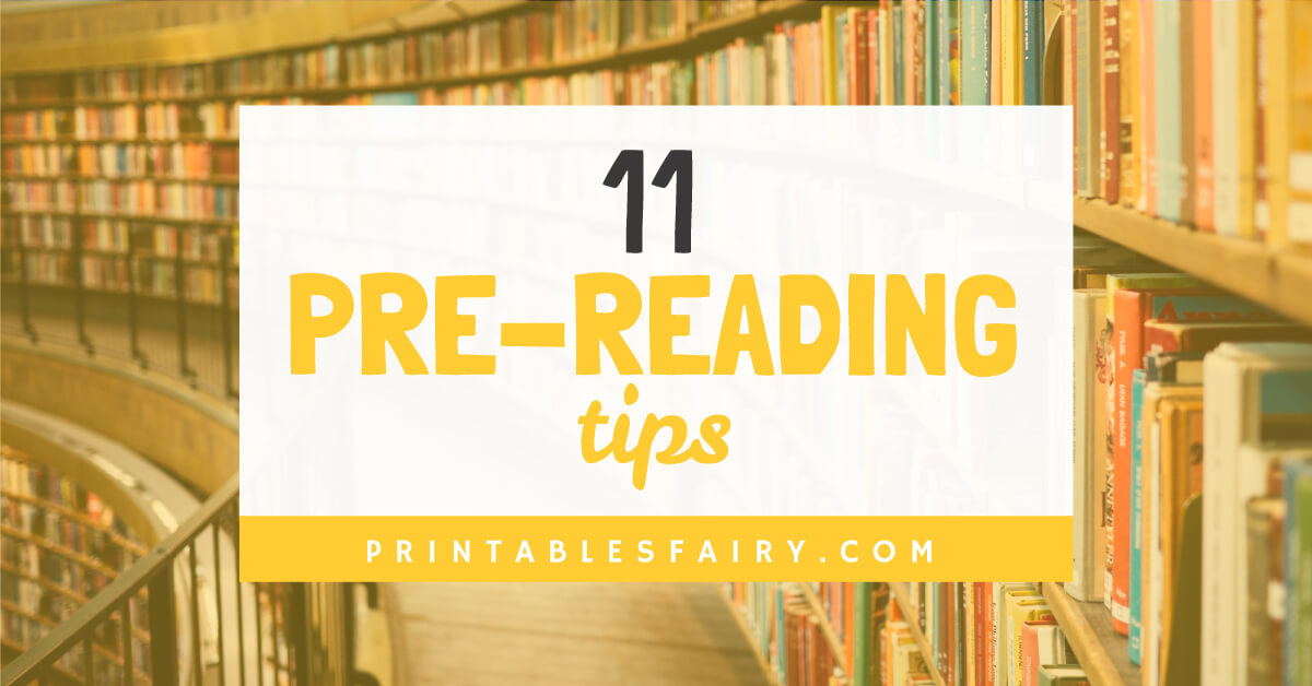 11 Pre-reading tips