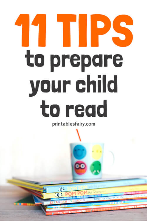 11 Tips to prepare your child to read. Children's books on a table