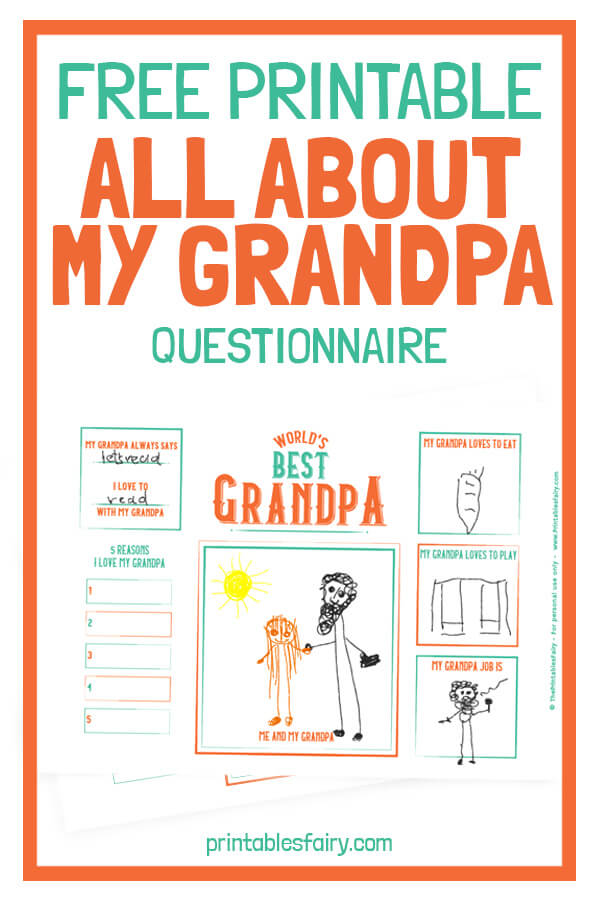 Free Printable All About My Grandpa