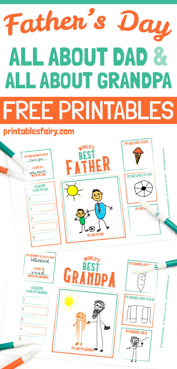 It's just a graphic of Grandpa Questionnaire Printable for printable fathers day