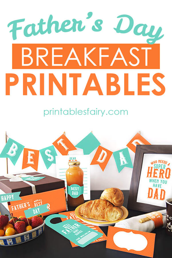 Father's Day Printable Breakfast Kit