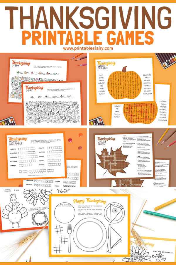 Thanksgiving Printable Placemats