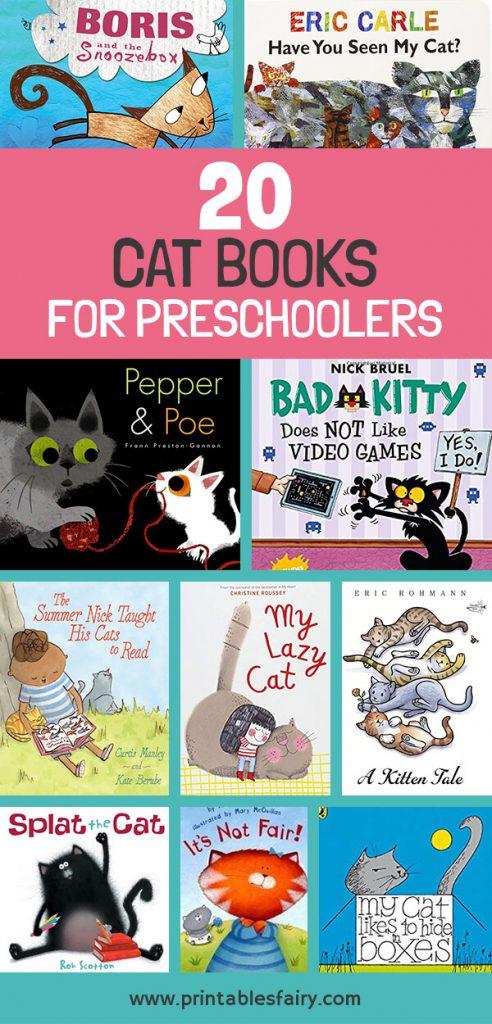 20 Cat Books For Preschoolers