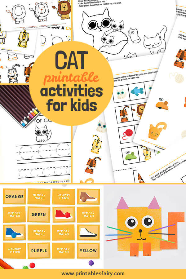 Check these 5 Cat Printable Activities For Kids