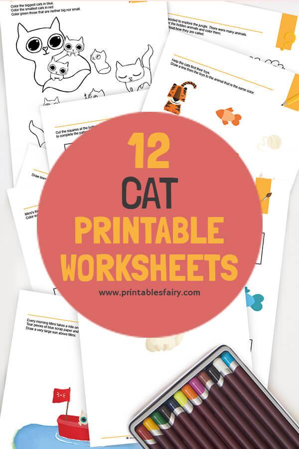 Cat Pre-K Worksheets