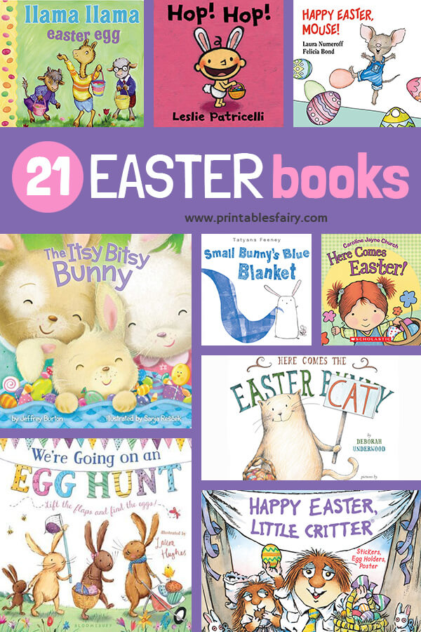 Collage of Easter Books