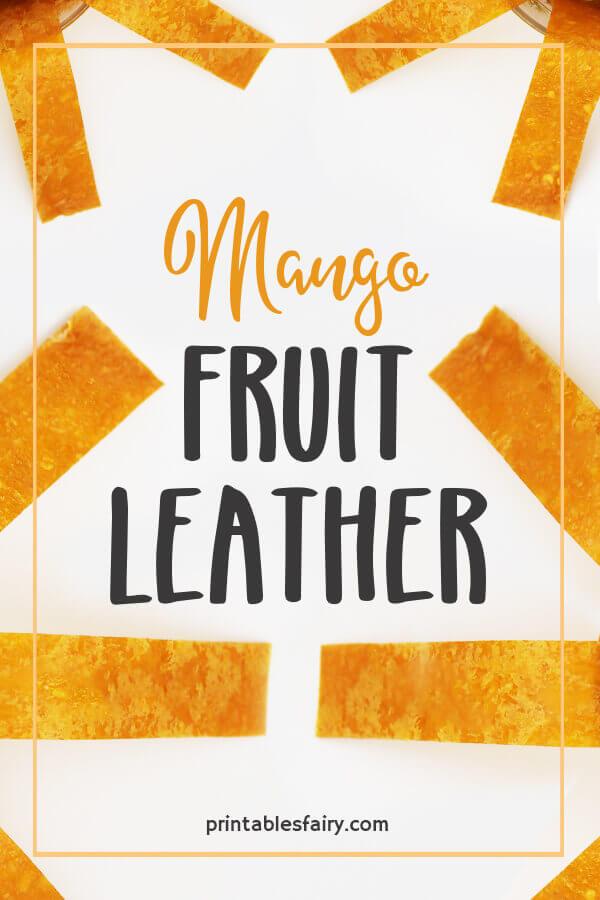 Mango Fruit Leather on a white table