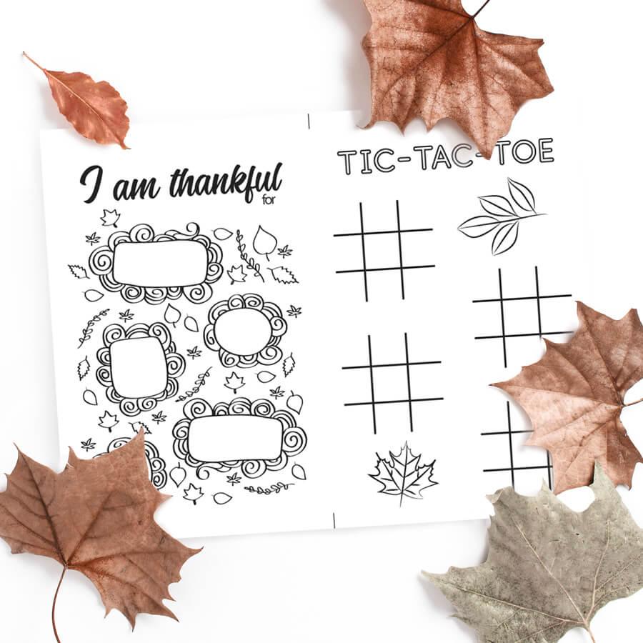 Thanksgiving Tic-tac-toe & Gratitude list