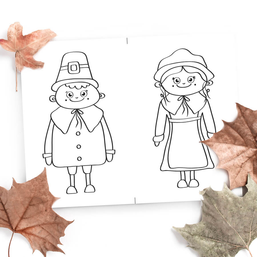 Pilgrims Coloring Pages