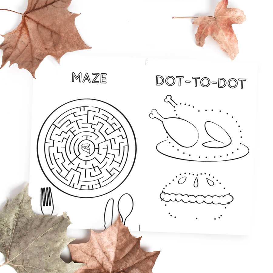 Thanksgiving Maze & Dot-to-dot