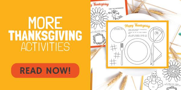 More Thanksgiving Printables