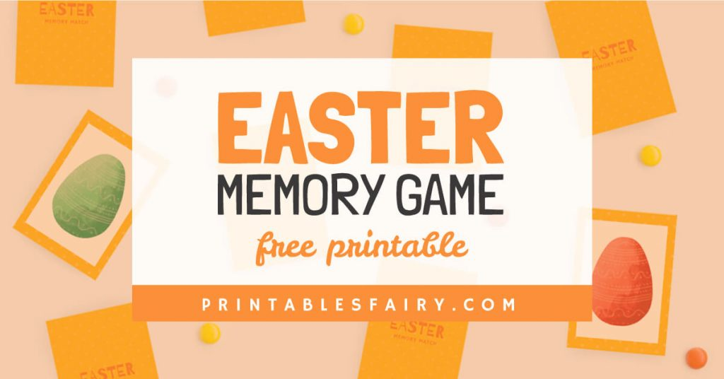 Easter Memory Game Free Printable
