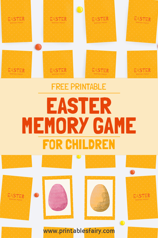 photo regarding Printable Memory Game called Easter Memory Matching Recreation For Children - The Printables Fairy