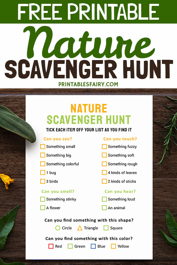Free Printable Nature Scavenger Hunt