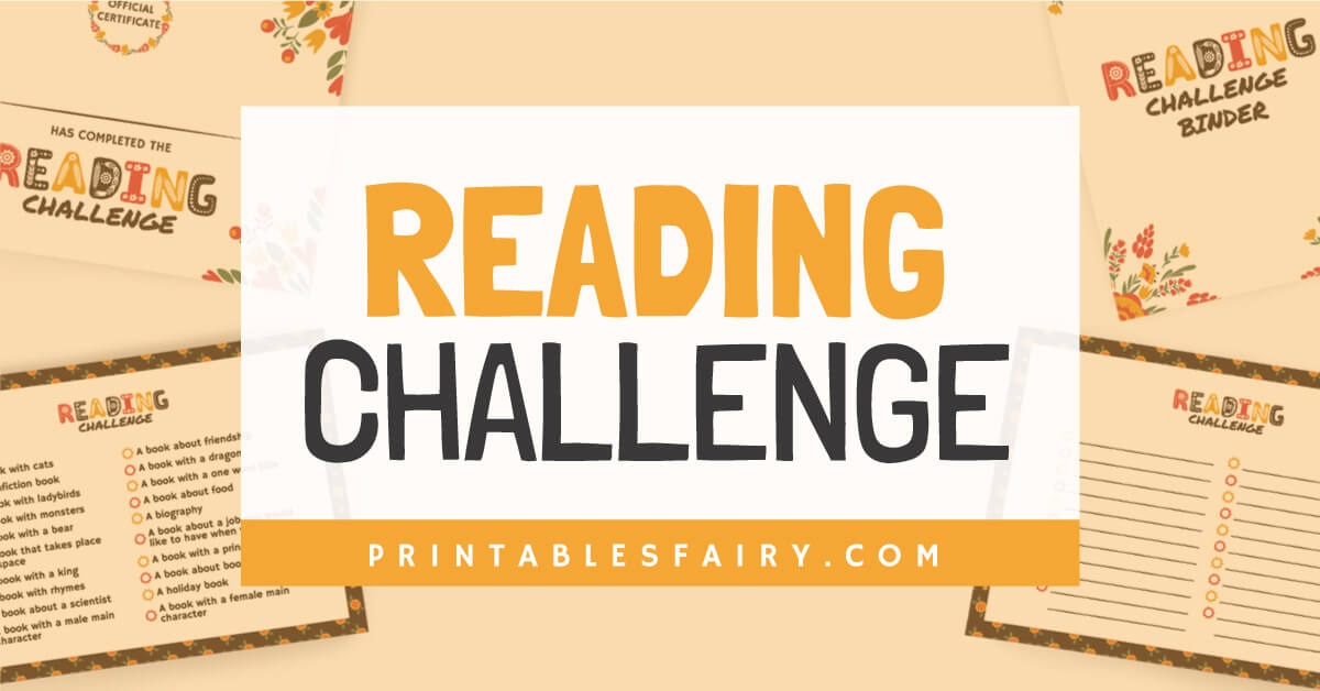 Reading Challenge on a white background