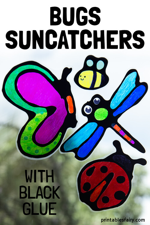 Black Glue Bugs Suncatchers