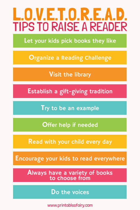 L.O.V.E.T.O.R.E.A.D. tips to raise a reader