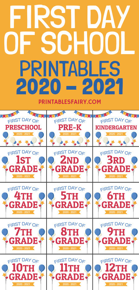 Back to school 2020 - 2021 signs
