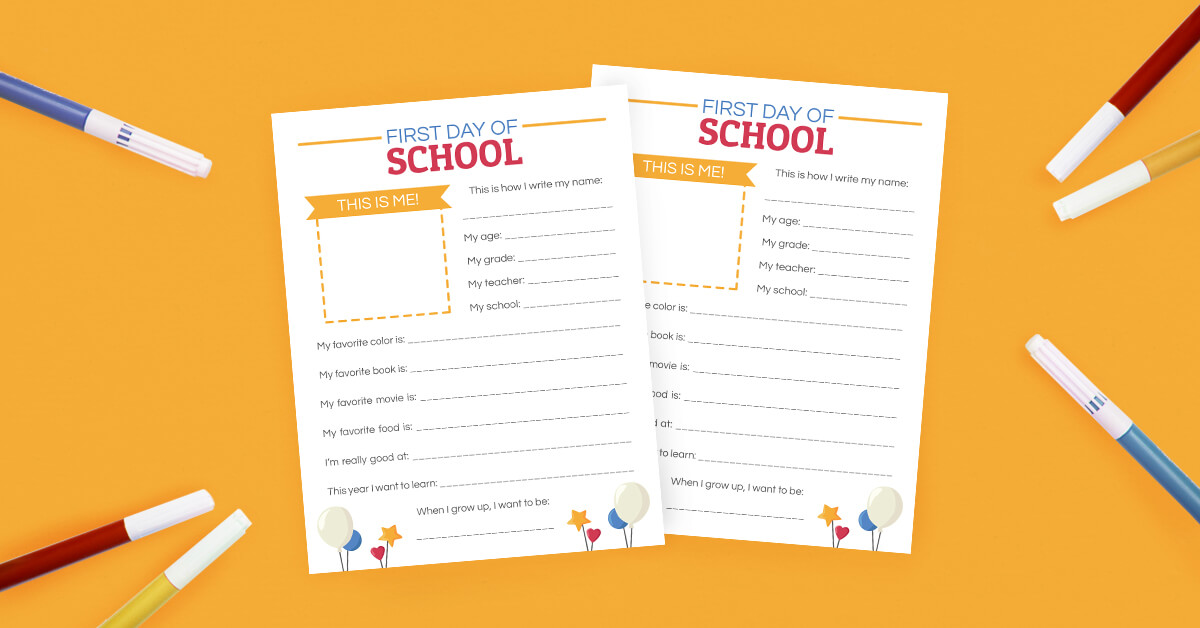 image about First Day of School Interview Printable identify Again In the direction of Faculty Job interview No cost Printable - The Printables