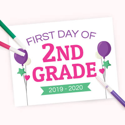 First Day of School Sign for Girls