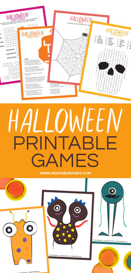 image regarding Halloween Printable Games called Halloween Printable Online games - The Printables Fairy