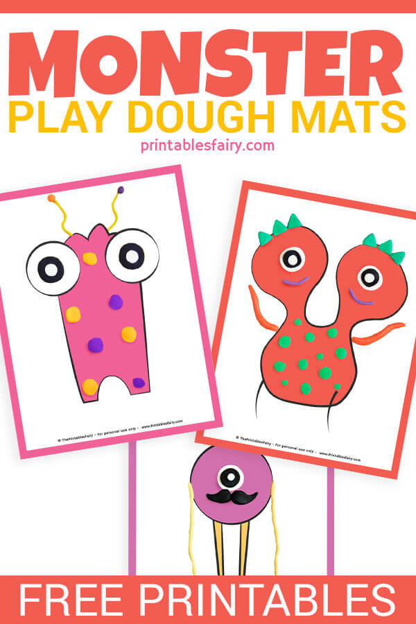 Monster Play Dough Mats