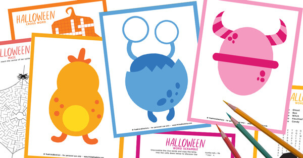 Halloween Activity Set: 3 Playdough mats