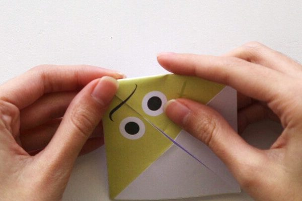 Fold corners to the center