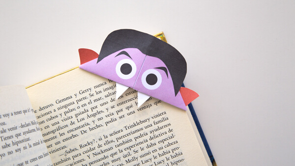 Vampire Bookmark on a book