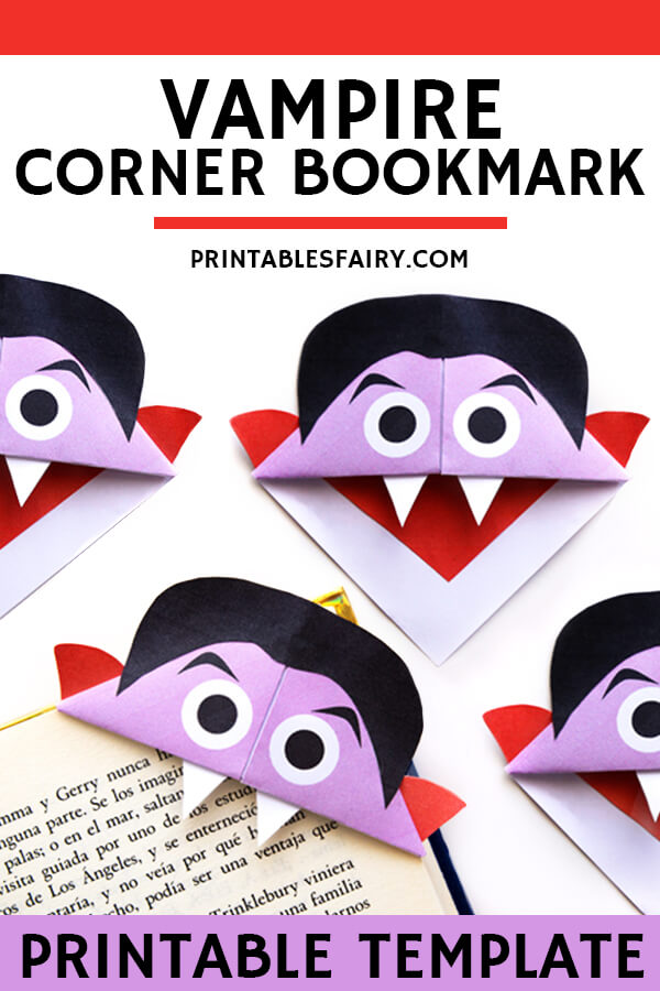 Vampire Bookmarks with Template