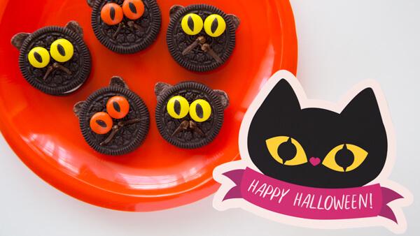 Black Cat Happy Halloween