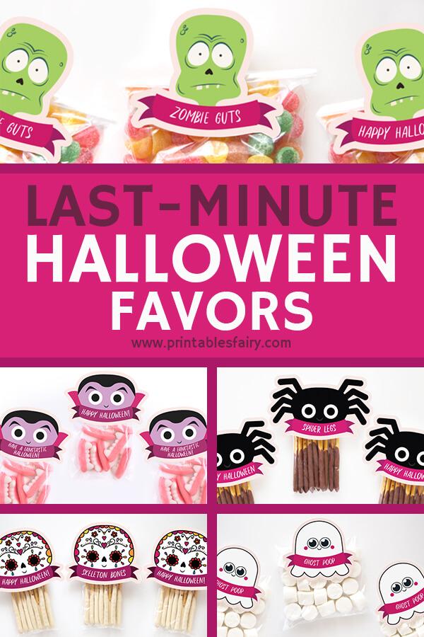 Halloween Printable Favor Tags
