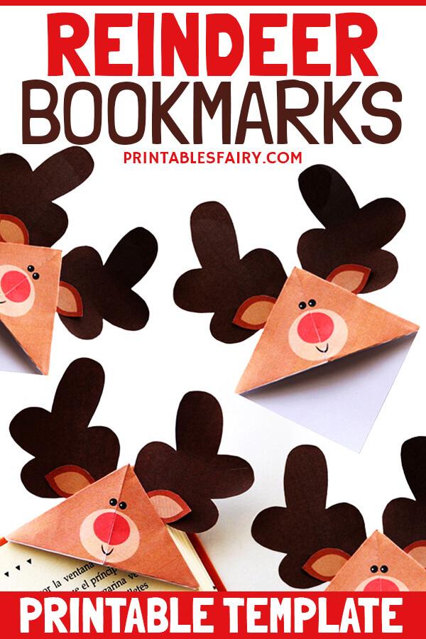Printable Reindeer Corner Bookmarks