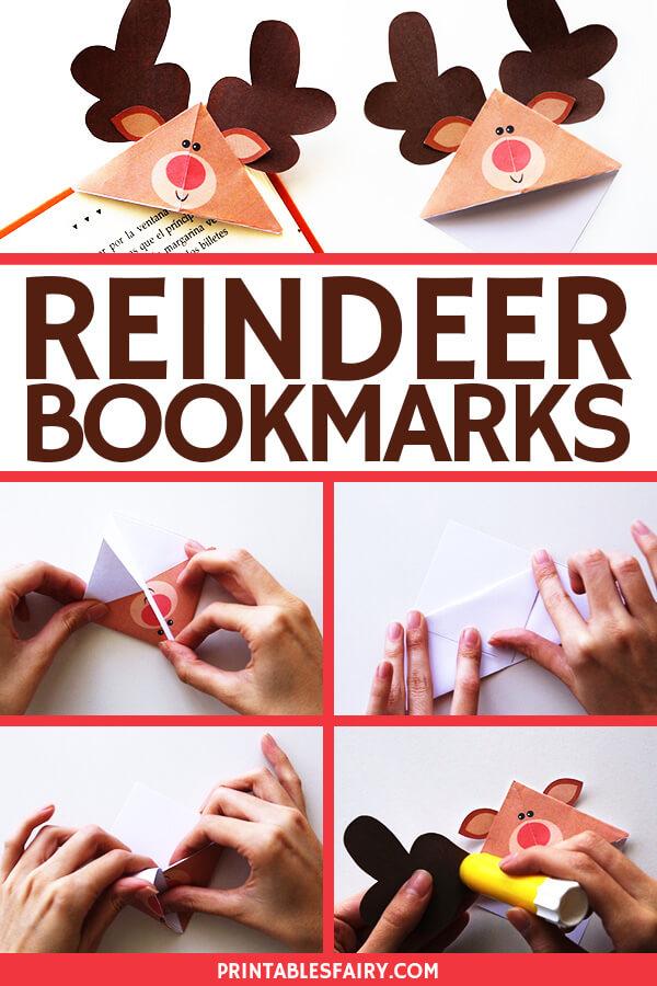 Reindeer Origami Bookmarks