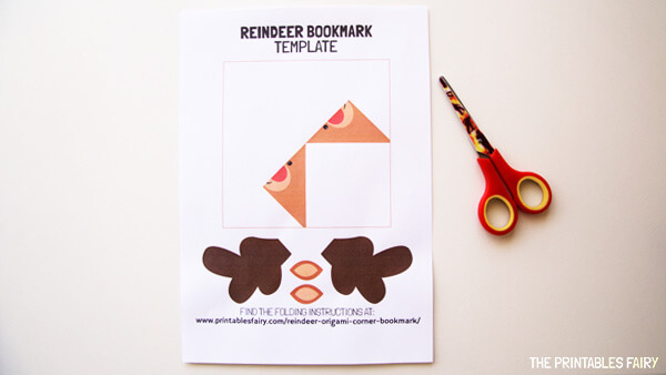 Reindeer Bookmark Template