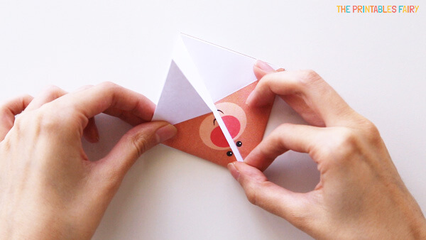 Fold the outter corners towards the top