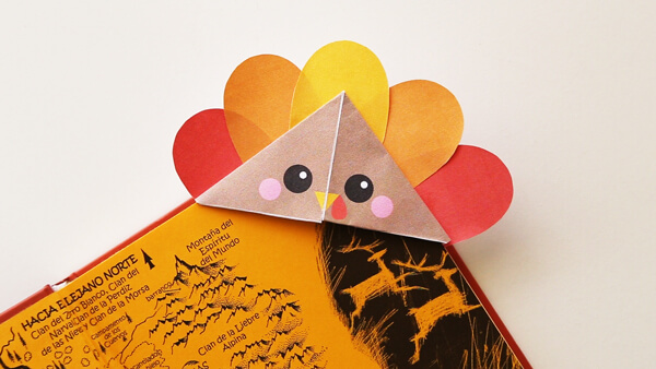 DIY Turkey Corner Bookmark