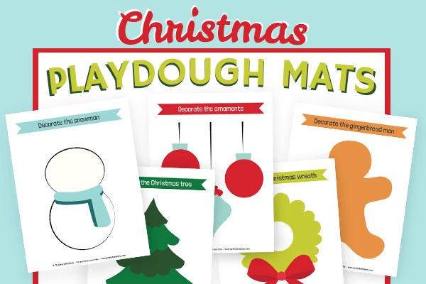 Free Printable Christmas Playdough Mats