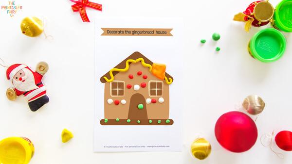 Gingerbread House Play Dough Mat