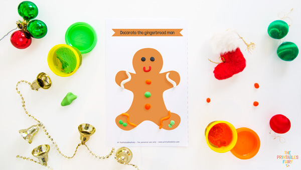 Gingerbread Man Play Dough Mat