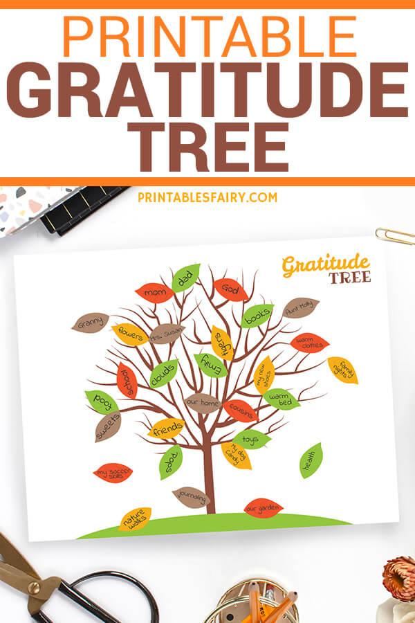 Gratitude Tree for Kids