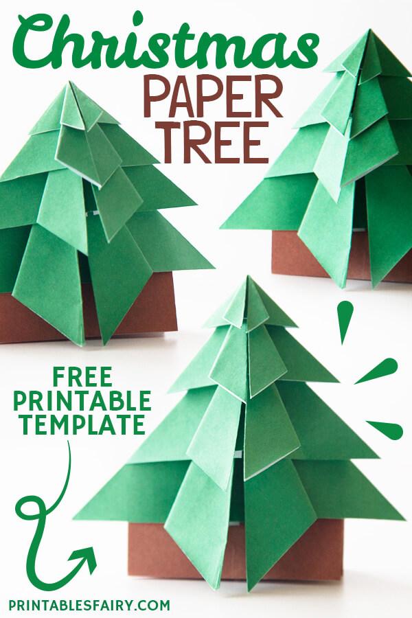 3D Christmas Tree Template