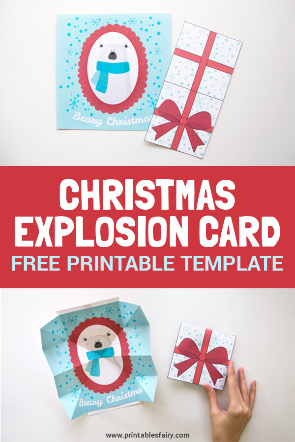 How to make an explosion card for Christmas