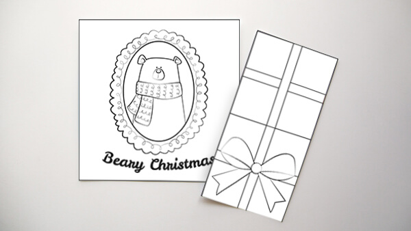 Coloring Christmas Card