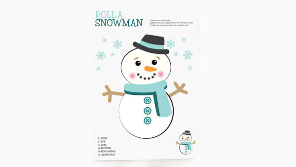 Snowman completed on the game card