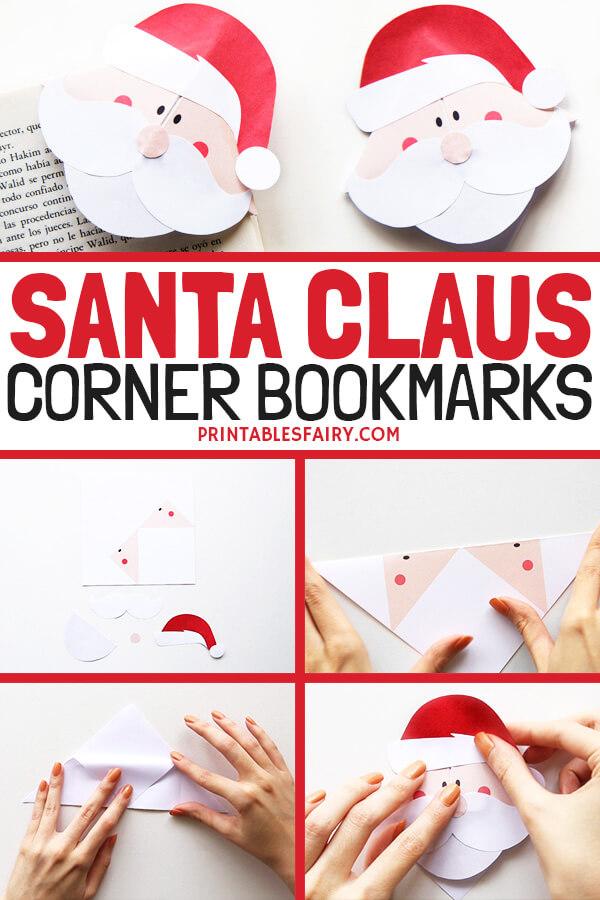 Santa Origami Bookmarks