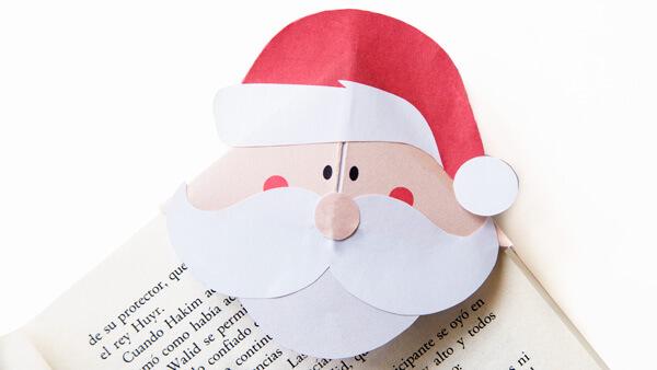 DIY Santa Corner Bookmark