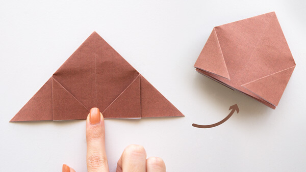 Fold corners to the middle