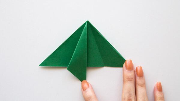Fold the left corner
