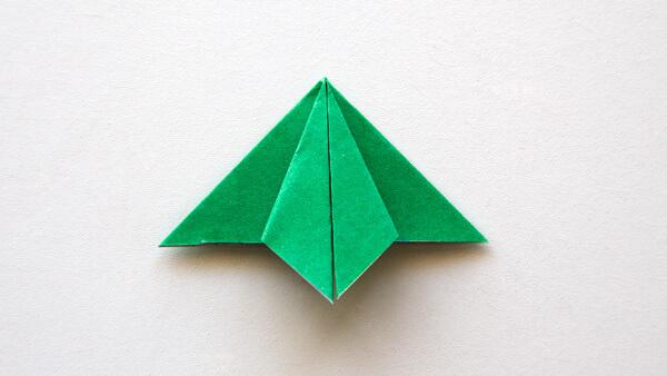 Fold the right corner